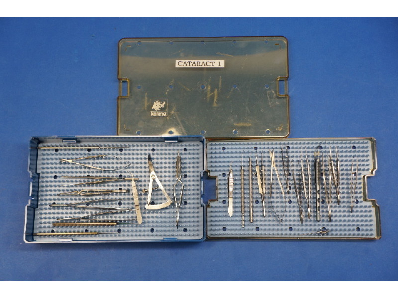 Cataract Instrument 21 piece set ~ Katena Storz Pilling