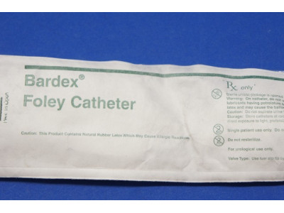 Bard 0167V20S Foley Cath Ribbed Balloon 20Fr. 30cc (x)