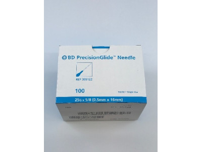 BD 305122 PrecisionGlide Ndle 25G x 5/8 ~ Box  of 100