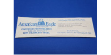 American Eagle Carver Dental Cres Blade Brass or Cres Hndle 17.8cm